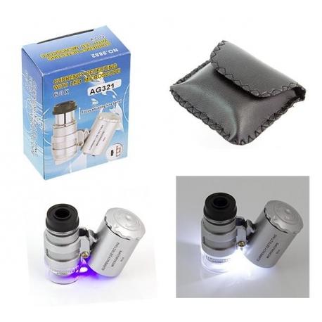 UV LED pinigų tikrintojas su mikroskopu