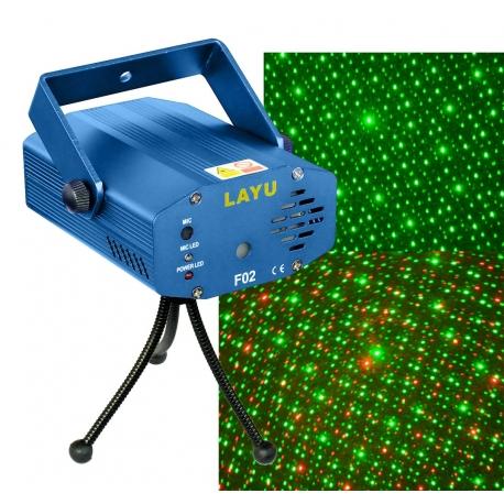 Žalios + raudonos spalvos lazerinis projektorius lazeris