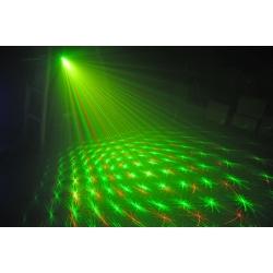 Žalios + raudonos spalvos lazerinis projektorius