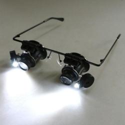 Padidinimo akiniai lupa su LED