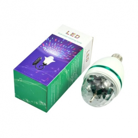 LED 360 besisukanti lempa 6W RGB